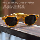 Johnny Depp G15 polarized sunglasses blonde solid acetate glasses green lens M
