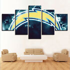 5 Pieces Canvas Painting Wall Art Lightning Los Angeles Chargers Sport Decor $78.95 USD on eBay