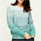 Womens Bonprix Grey Pink Green Marl Ombre Melange Knit Crew Neck Hip Long Jumper