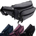 Stylish Quality Denim Look Bum Bag Fanny Pack with 6 Pockets