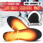 Electric Heated Shoes Insoles Socks Charging Winter Warming USB Rechargeable Pad