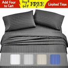 2100 Count Deluxe 6-Piece Dobby Stripe 100% Cotton Deep Pocket Bed Sheet Set image