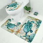 Turtle Octopus BATHROOM RUG CONTOUR MAT TOILET LID COVER PLAIN GRAPHICS BATHMATS
