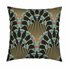 Art Deco Egyptian Egypt Art Throw Pillow Cover w Optional Insert by Roostery