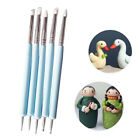 5pcs/Set Soft Pottery Clay Tool Double-head Sculpting Polymer Modelling Tools ~ image
