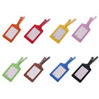 Portable PU Leather Luggage Tags Suitcase Labels Bag Travel Accessories