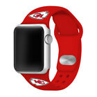 Kansas City Chiefs Silicone Sport Band Compatible With The Apple Watch - Red on eBay