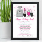 PERSONALISED 13th 16th 18th 21st Birthday Gifts for Her Daughter Girls Sister