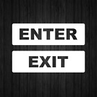 Enter Exit Decal Vinyl Sticker Sign Door Wall Window Decals