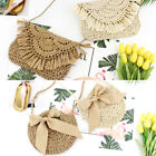 Women Girls Rattan Straw Bag Woven Round Handbag Crossbody Beach Summer Bags Us