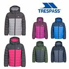 Trespass Oskar Boys Girls Padded School Jacket With Hood For Kids