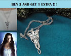 Arwen Evenstar Necklace Gift Jewellery Silver Crystal Lord Of The Rings Lotr