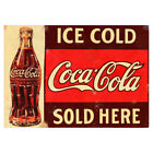 Classic Coca Cola Metal Advertising Sign Vintage Retro Fizz Drink Plaque Outdoor £4.49  on eBay