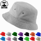 Mens Womens Bucket Hat Cap Fishing Boonie Brim Summer Sun Safari Camping