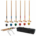 Best Family Croquet Sets - Six Player Croquet Set w/Mallets Balls for Adults Review