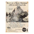 Classic Christmas Coca Cola Metal Advertising Sign Vintage Retro Drink Plaque £7.99  on eBay