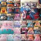 Children Kid Peppa Pig Captain America Cotton Duvet Cover Pillowcase Bedding Set