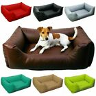 Deluxe Soft Washable Dog Pet Warm Basket Bed Leather Cushion with Lining [MARIO]