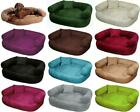 Soft Washable Alcantra Dog Pet Warm Basket Bed Cushion with Fleece Lining [JEFF]