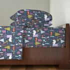 Woodland Winter Woodland At Night Beer, 100% Cotton Sateen Sheet Set by Roostery