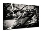 Harley Davidson Vintage Bike Poster Canvas Print Sport Race Bike Motorbike (135) $15.0 USD on eBay
