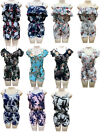 Women Floral Playsuit Jumpsuit Romper Holiday Summer Casual Shorts Sundress