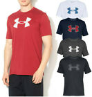 Mens Under Armour Big Logo Graphic T Shirt Loose Fit Mens Tee NEW image