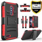 For ZTE Max XL Case, Dual Layers Belt Clip + Premium Screen Protector
