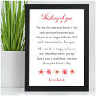 Fathers Day Memorial Poem Personalised In Memory Keepsake Poem Gifts Dad Grandad