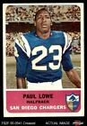 1962 Fleer #80 Paul Lowe Chargers VG $12.0 USD on eBay