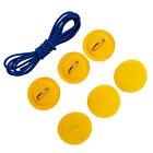 D-ring Patches & Elastic Shock Cord Set for Inflatable Boat Kayak SUP- 6 Pieces