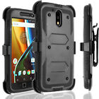 For Motorola Moto G4 /G4 Play /G4 Plus Phone Case, Belt Clip+HD Screen Protector