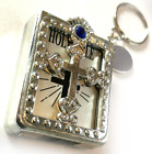 Engraved personalised Holy Bible with Holder keyring in gift pouch MM33b
