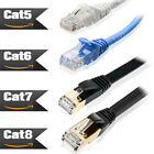 High-Speed Cat 8 Cat 7 Cat 6 Cat 5 Ethernet Cable 6 10 25 50 66 75 100FT LOT US