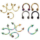 1X Stainless Steel Horseshoe Ear Rings Bar Nose Lip Body Piercing Jewelry CC