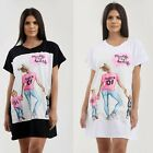 Womens Ladies Mum Life Is The Best Life Oversize Baggy Casual TShirt Top Dress