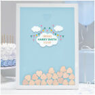 PERSONALISED Boys Son Christening Guest Book Alternative - Blue Drop Box Frame