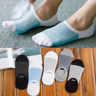 5 Pairs Men Loafer Boat Socks Invisible No Show Nonslip Low Cut Sport Casual