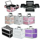 Luxury Extra Large Space Alu Beauty Make Up Nail Cosmetic Box Storage Case Uk