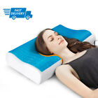 Memory Foam Pillow with Cooling Gel Orthopedic Bed Pillow - with Case Reversible image