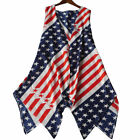 Women's High-Low Front Tank Cardigan American Flag Patriotic USA Flag 4th July
