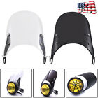Black/Clear Universal Windshield Windscreen Motorcycle for 5-7'' Round Headlight