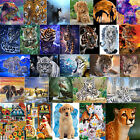 5D DIY Full Drill Diamond Painting Tiger Embroidery Craft Kit Home Wall Art+Tool