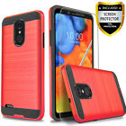 For LG Aristo / 2 / 3 / Plus / Case, Shockproof Cover+Tempered Glass Protector