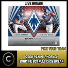 2018 PANINI PHOENIX FOOTBALL 8 BOX (FULL CASE) BREAK #F204 - PICK YOUR TEAM