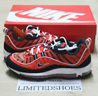 NIKE AIR MAX 98 HABANERO RED BLACK WHITE METALLIC GOLD 640744-604 MENS
