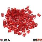 100pcs New Braid Hair Beads 8mm Hole Dreadlocks Beads Rings For Hair Extensions
