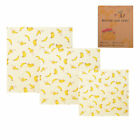 Antiseptic Washable 3Pcs Bee Wax Cloth Reusable Food Wrappers Beeswax Wrap