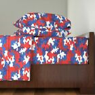 Camo Patriotic Usa July 100% Cotton Sateen Sheet Set by Roostery