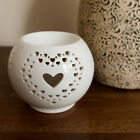 Love Heart Cut Out Oil Burner Ceramic Wax Melt Tealight Holder